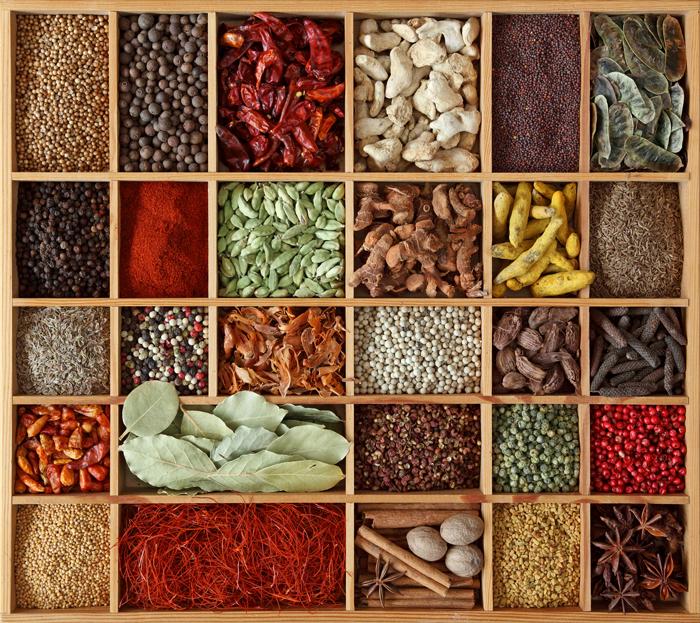 As variedades das especiarias. Foto: divulgação