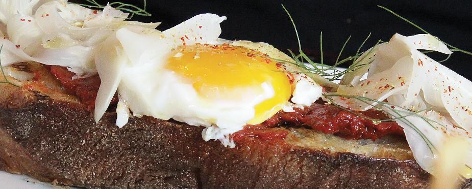 Nduja com ovo e funcho. Foto: divulgacão