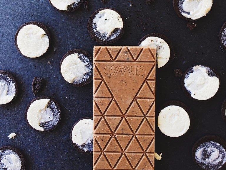 Cookies & Barra de creme de chocolate