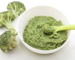 Purê de brócolis.